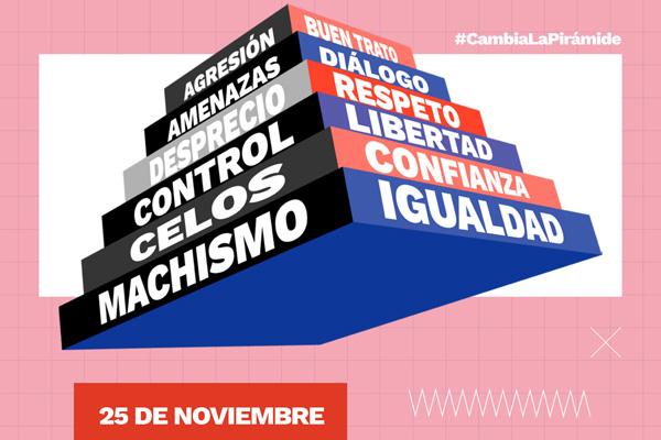 'Cambia la pirámide de la violencia machista' es el lema que recoge la programación municipal de cara al 25-N