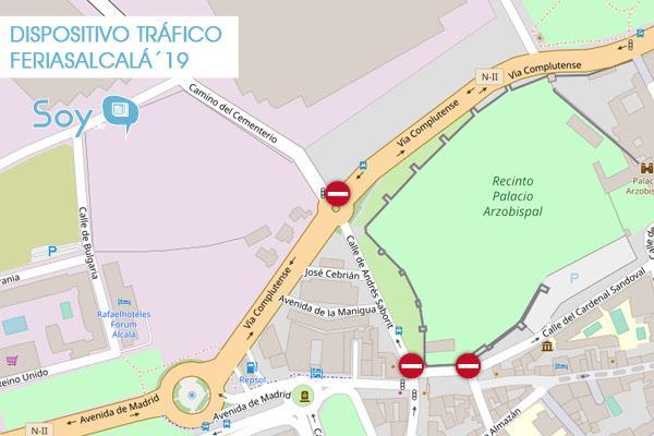 Especial cortes de tráfico Ferias y Fiestas de Alcalá 2019