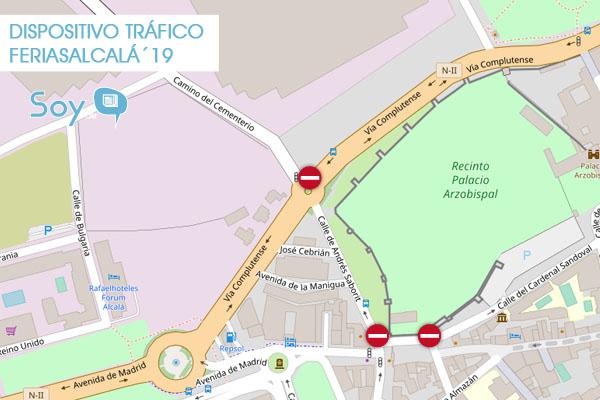 Consulta los planos de las diferentes restricciones de tráfico