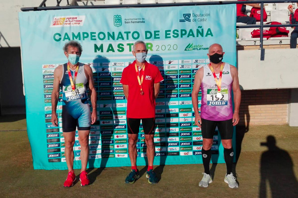 Roberto Aguirrebengoa logró los tres metales para nuestro club