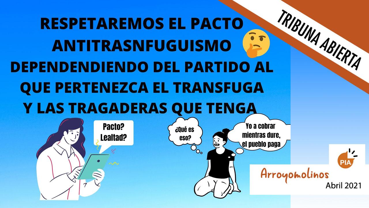 El PP de Arroyomolinos consigue la mayoría absoluta a golpe de talonario y con el apoyo de la tránsfuga del PIArr, Cristina Fernández (Actual Concejal de Cultura)
