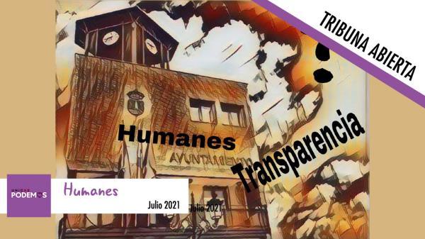 Clamor de transparencia. Humanes y sus secretos...