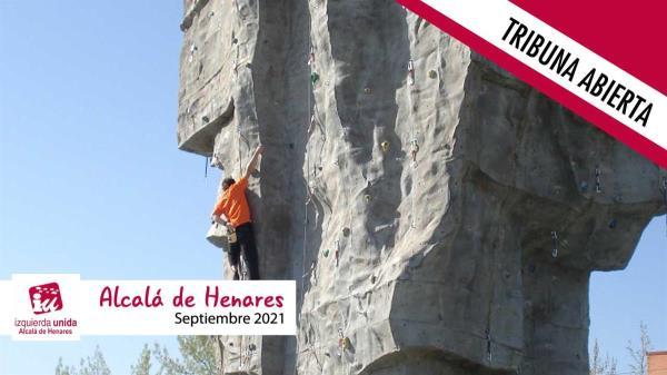 IU Alcalá de Henares propone la creación de rocódromos al aire libre en los polideportivos municipales