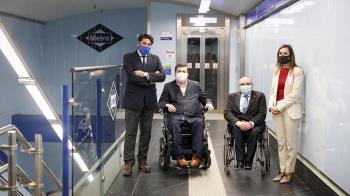 La estación de metro ha sido remodelada permitiendo mejorar la movilidad de las 322000 personas residentes en la región con alguna discapacidad