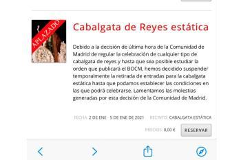 Debido a las última normativa dictada por la Comunidad de Madrid, el ayuntamiento decide replantear el evento