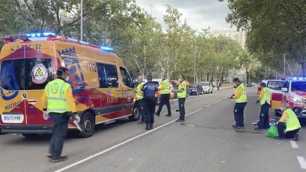 El hombre fue trasladado al Hospital de La Paz