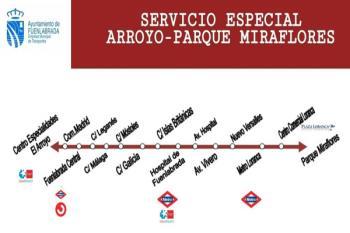 Los autobuses circularán de 9 a 20 horas, conectando lugares como centros de salud, zonas comerciales, Renfe o Metrosur