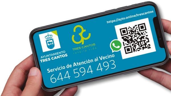 Más de 5.700 vecinos de Tres Cantos conectados por Whatsapp con el Ayuntamiento