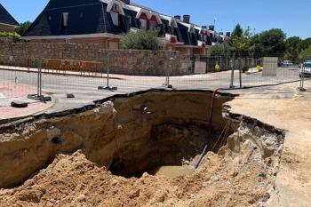 Los trabajos de reconstrucción de la red de saneamiento durarán unas cuatro semanas