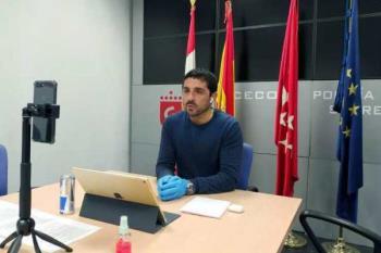El vicealcalde Miguel Ángel Martín Perdiguero compareció en rueda de prensa online
