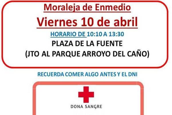 Una unidad de Cruz Roja llega a Moraleja en el marco de la Campaña de Donación de Sangre