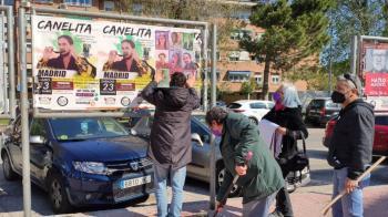 Simpatizantes de Podemos e Izquierda Unida del municipio han trabajado en común para dicha acción.