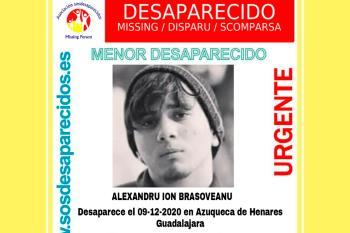 SOS Desaparecidos alerta sobre un menor desaparecido de 15 años de edad