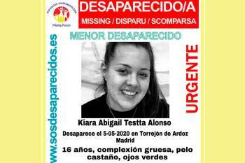 Kiara tiene 16 años y desapareció el día de ayer, 5 de mayo de 2020
