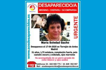 María Soledad iba acompañada de su perro y lleva desaparecida desde el 17 de abril de 2020