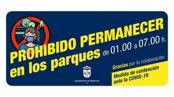 Los parques y jardines no estarán abiertos al público desde la 01.00h hasta las 07.00h