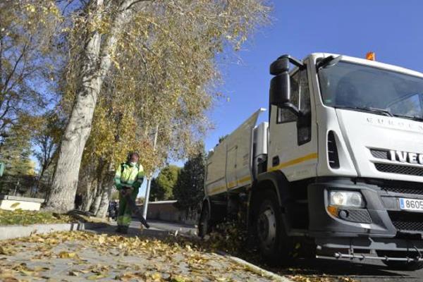 Valdemoro inicia la campaña de recogida de hojas del municipio