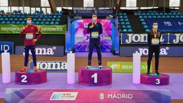 Valladares, plata en el Campeonato de España en Pista Cubierta