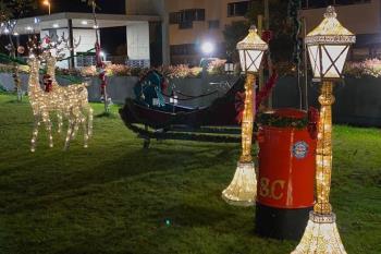 Este sábado tuvo lugar la inauguración oficial de la iluminación puesta en marcha por los propietarios de Terrazas del Olivar