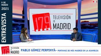 Hablamos con el portavoz de Más Madrid en la Asamblea, Pablo Gómez Peprinyà, sobre la actualidad regional