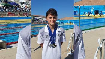 Se alzó con el título de Campeón de España Alevín en las prueba de 200 metros espalda y subcampeón de España en 100 metros espalda