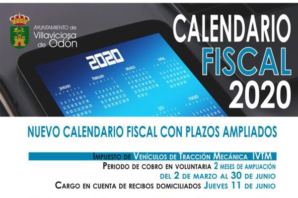 Villaviciosa de Odón publica su nuevo y ampliado calendario fiscal para 2020