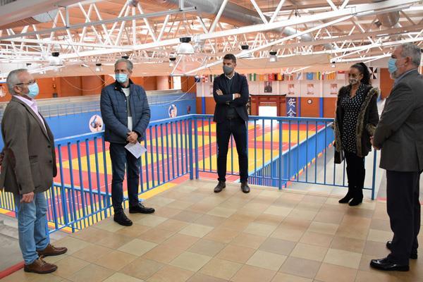 Visita del viceconsejero de Deportes de la Comunidad de Madrid a Villaviciosa de Odón