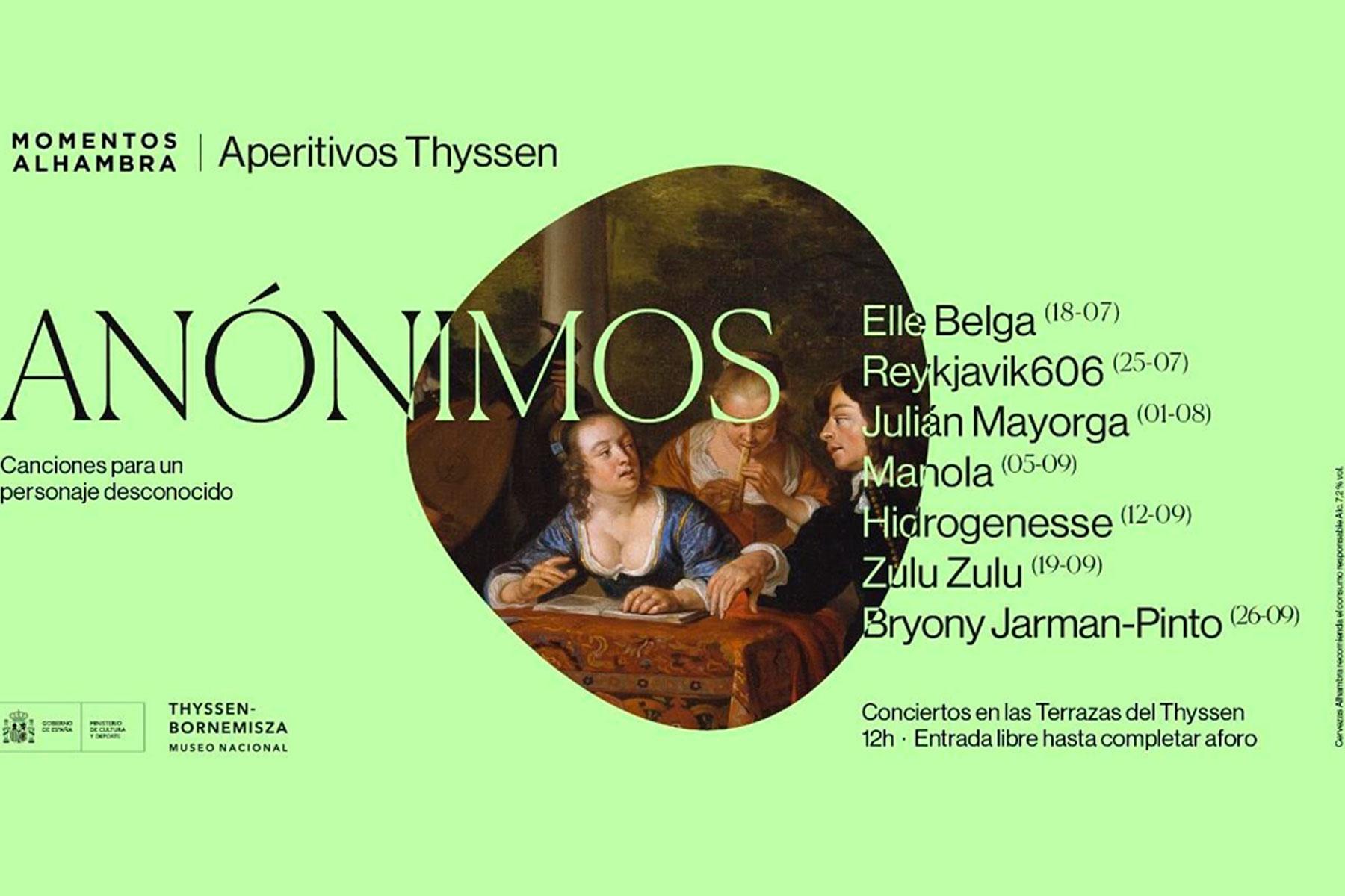 Siete conciertos en Las Terrazas de Thyssen te esperan del 18 de julio al 26 de septiembre
