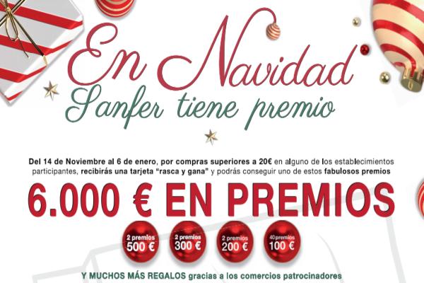 Ya ha dado comienzo la campaña en apoyo al comercio local 'En Navidad, Sanfer tiene Premio'