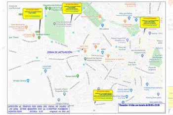Se trata de la intersección de la Avenida del Dr Marañón con las calles San Vicente, Dr. Fleming y Charaima