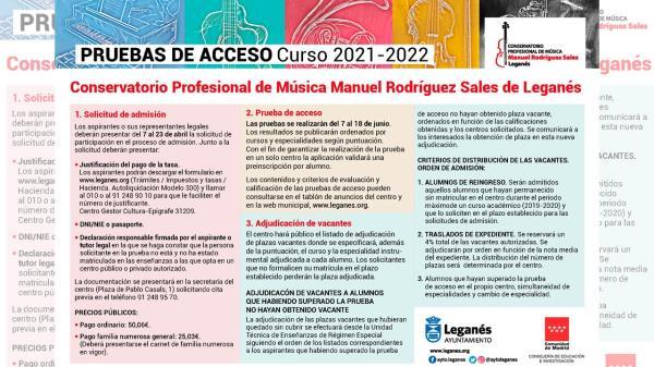 Ya puedes apuntarte a las pruebas de acceso al Conservatorio Profesional de Música Manuel Rodríguez Sales